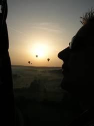 Mein Mann bei der Ballonfahrt