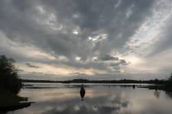 Abendstimmung auf dem Shannon River in Irland