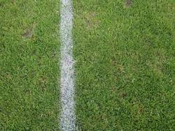 Eine Linie markiert den Spielfeldrand