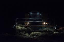 Mähdrescher Nachtarbeit