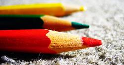 drei farben: rot, grün, gelb
