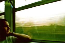 Grüne Zugfahrt