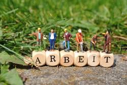 Miniaturfiguren - Bauarbeiter auf ARBEIT