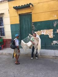 Hammock merchant on columbian street