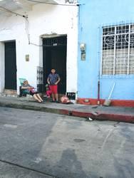 columbian street scene