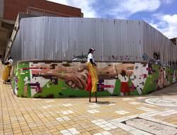Stelzenläufer in Kolumbien