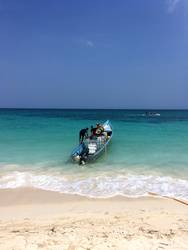 Playa Blanca Boot Kolumbien