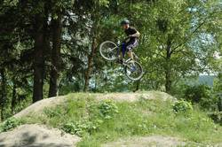 Jumpin in the bikepark