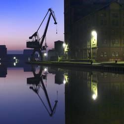 Morgens um 6.12 am Kreativkai, Stadthafen1