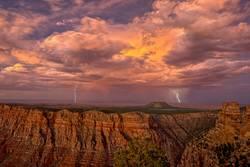 Storm approaching Grand Canyon South Rim