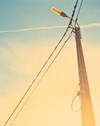 Laterne vor Sonne