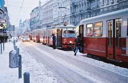Straßenbahnschneechaos  in Wien