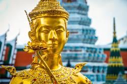 Golden statue at Wat Phra Kaew temple, Bangkok