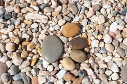 Stones in shape of footprint