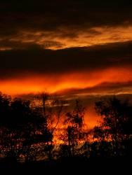 Abendhimmel farbenreich