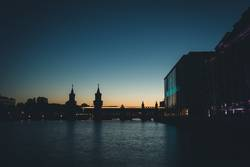 Sonnenuntergang - Oberbaumbrücke Berlin