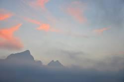 Drachenspitze im Nebel