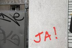 Wall graffiti concrete red paint berlin