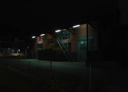 Lagerhaus bei Nacht