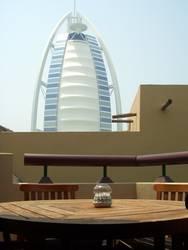Burj Al Arab von unserer Hüdde aus