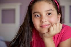 Little girl smiling portrait indoor