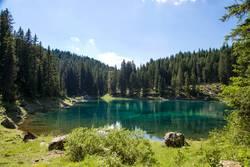 Lake landscape in Trentino Alto Adige