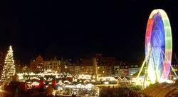 Weihnachtsmarkt Erfurt (Panorama)