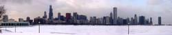 Chicago Winterskyline (Panorama)