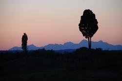 Abend in der Toskana