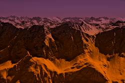 Extrem Alpenglühen