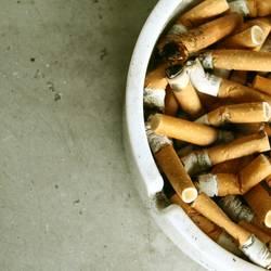 full ashtray