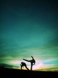 Capoeira am Monte Scherbelino