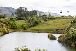 Natural park with cable cars in Cantabria, Spain