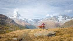 Amazing view of Matterhorn peak in Swiss Alps, Switzerland