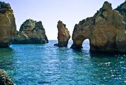 Küste an der Algarve, Portugal