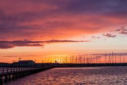 Sonnenuntergang an der Ostsee, Marina Wackerballig