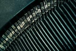 Drucken von Buchstaben der Schreibmaschine