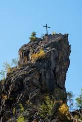 Gipfel mit Kreuz übern Bodetal