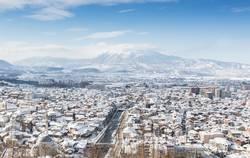 Winterpanorama Stadt Prizren, Kosovo