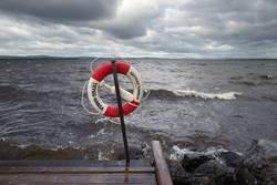 Siljansee bei Sturm - Rettungsring