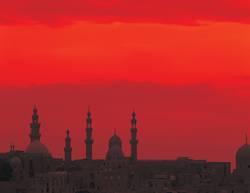 Kairo im Sonnenuntergang