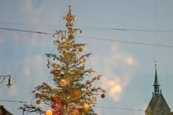 Weihnachtsbaum mit Kabelanschluss