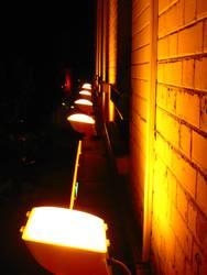 Wand im Licht