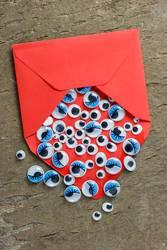 Wackelaugen mit Briefumschlag