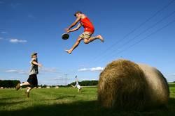 dynamisches Frisbeespiel