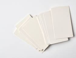 blank rectangular paper white business cards
