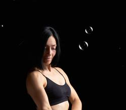beautiful athletic woman with muscular body
