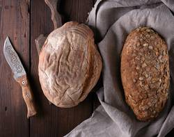 bread made from rye flour with pumpkin seeds