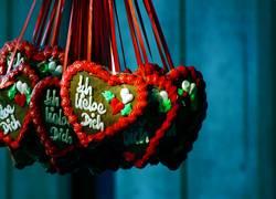 Herz aus Lebkuchen zm Valentinstag