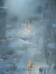 heile welt im schneegestöber